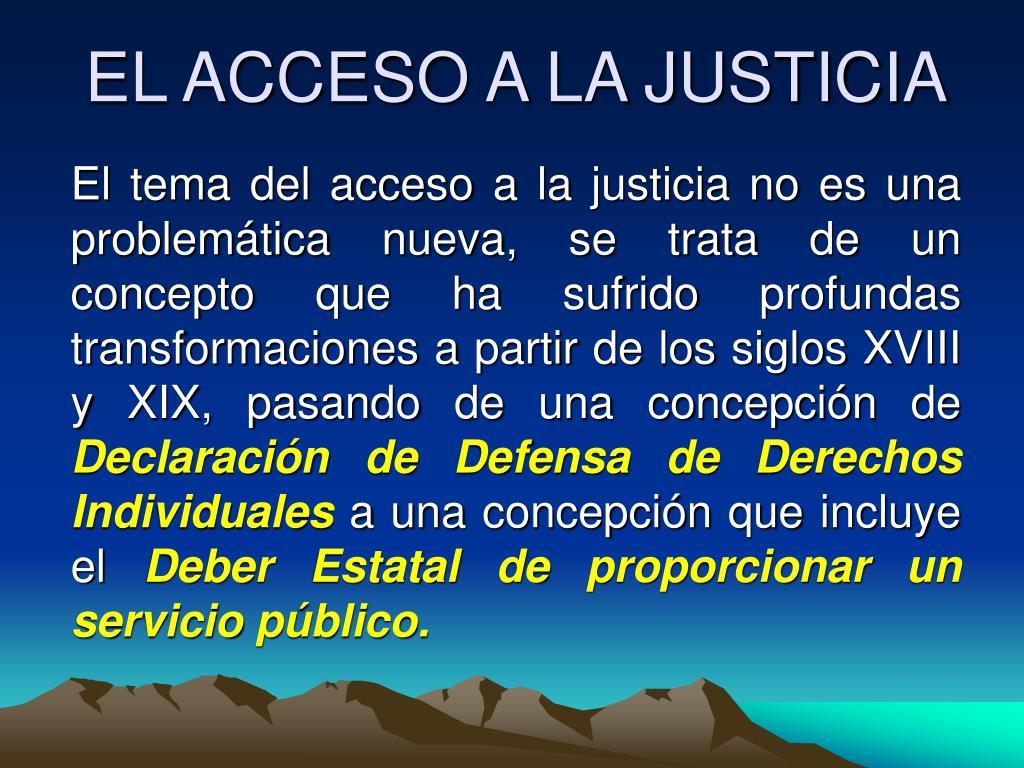 el acceso a la justicia l.