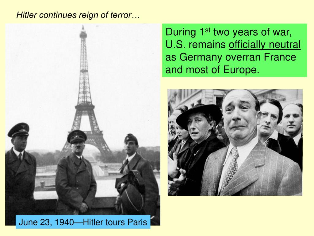 Hitler continues reign of terror…