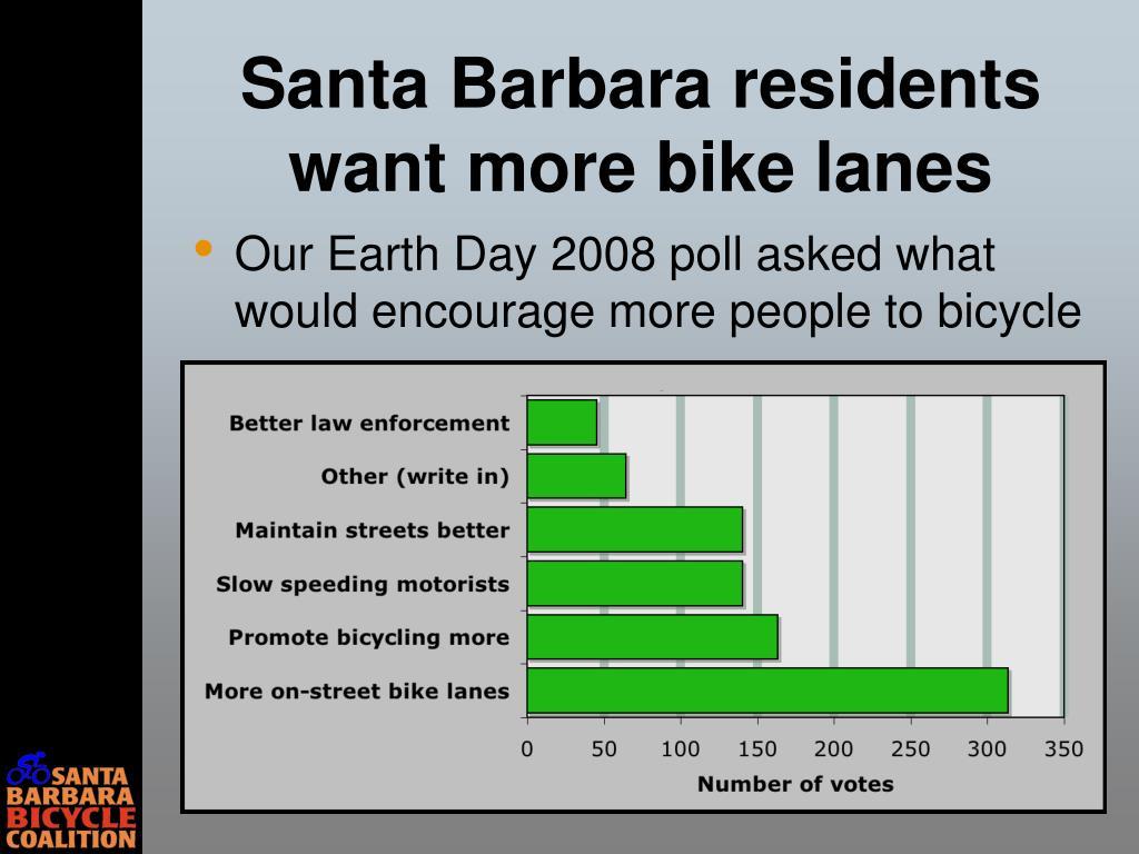 Santa Barbara residents want more bike lanes