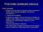 first order predicate calculus1