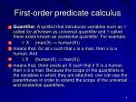 first order predicate calculus4