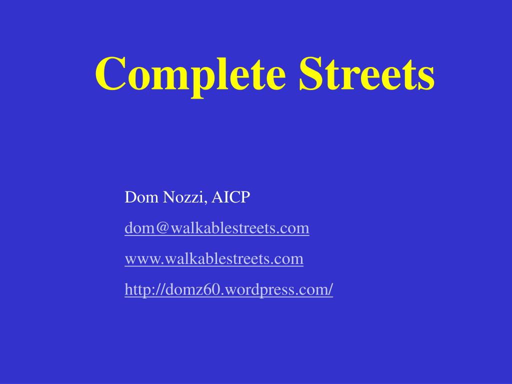 complete streets l.