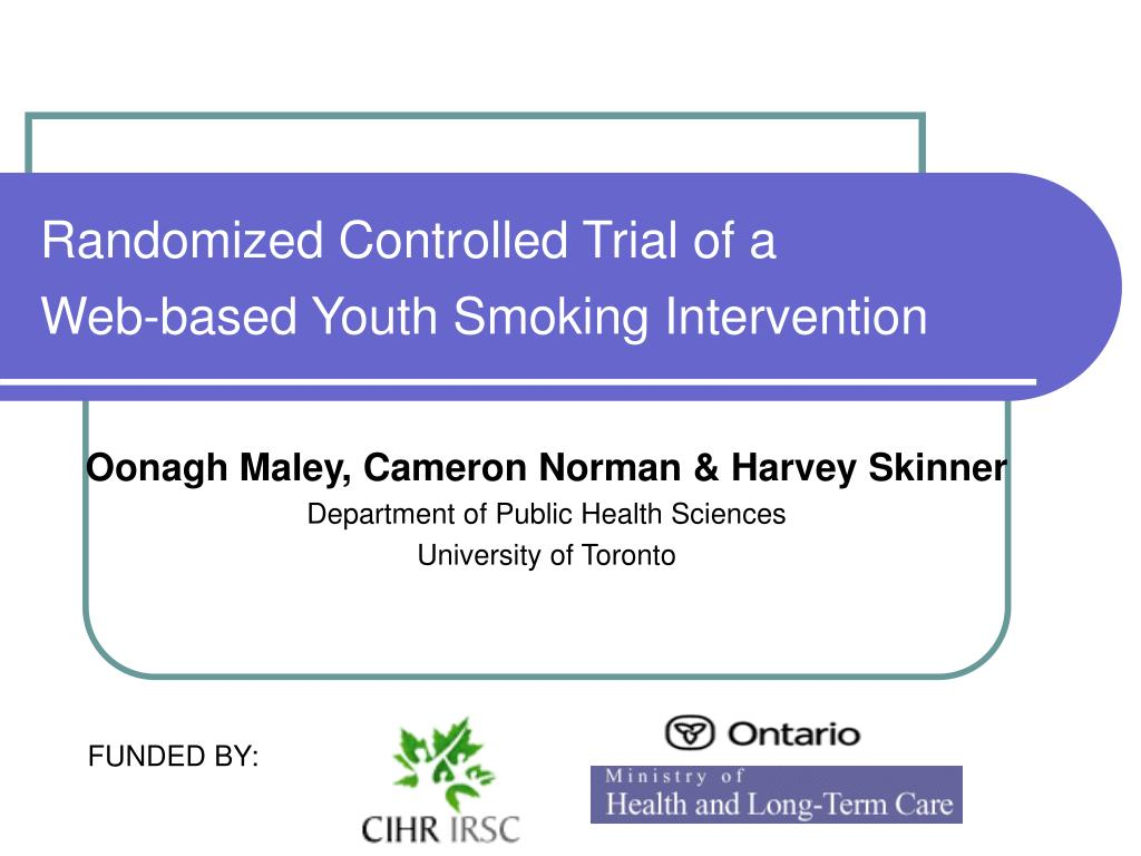 PPT - Randomized Controlled Trial of a Web-based Youth ...
