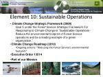 element 10 sustainable operations