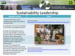 sustainability leadership