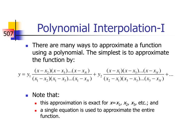 Polynomial Interpolation-I