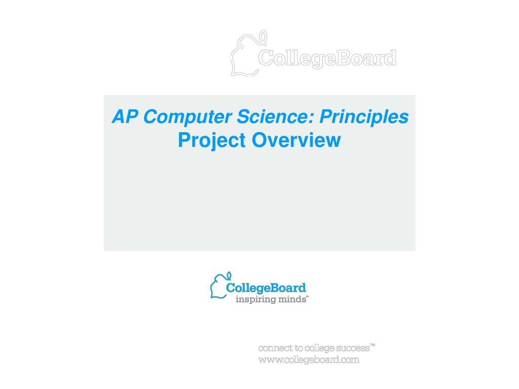 ap computer science principles project overview l.