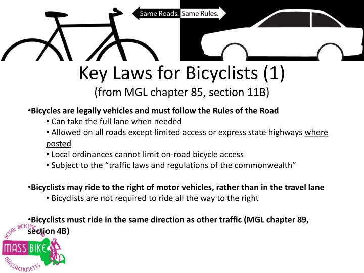 Key Laws for Bicyclists (1)