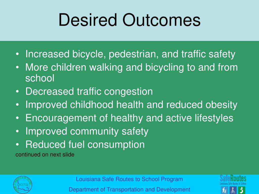 Increased bicycle, pedestrian, and traffic safety