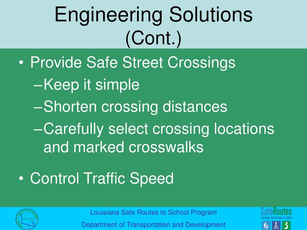 Provide Safe Street Crossings