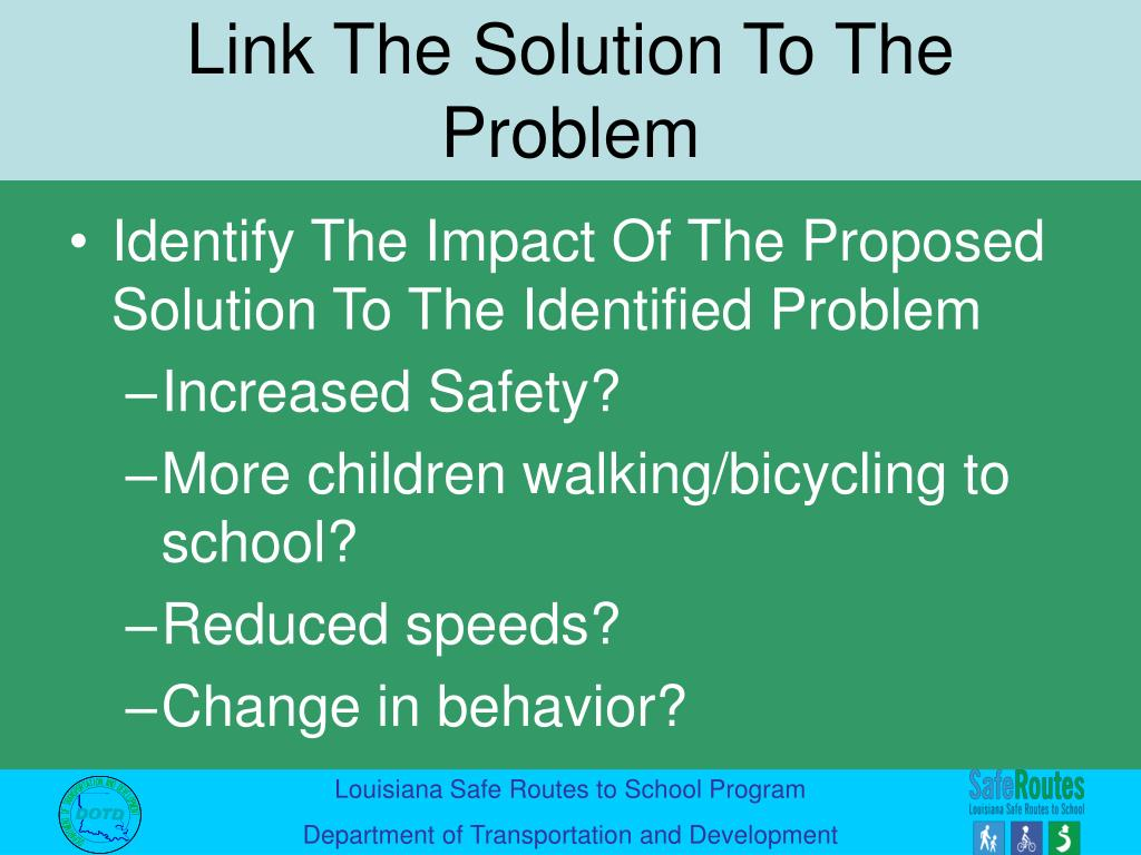 Identify The Impact Of The Proposed Solution To The Identified Problem
