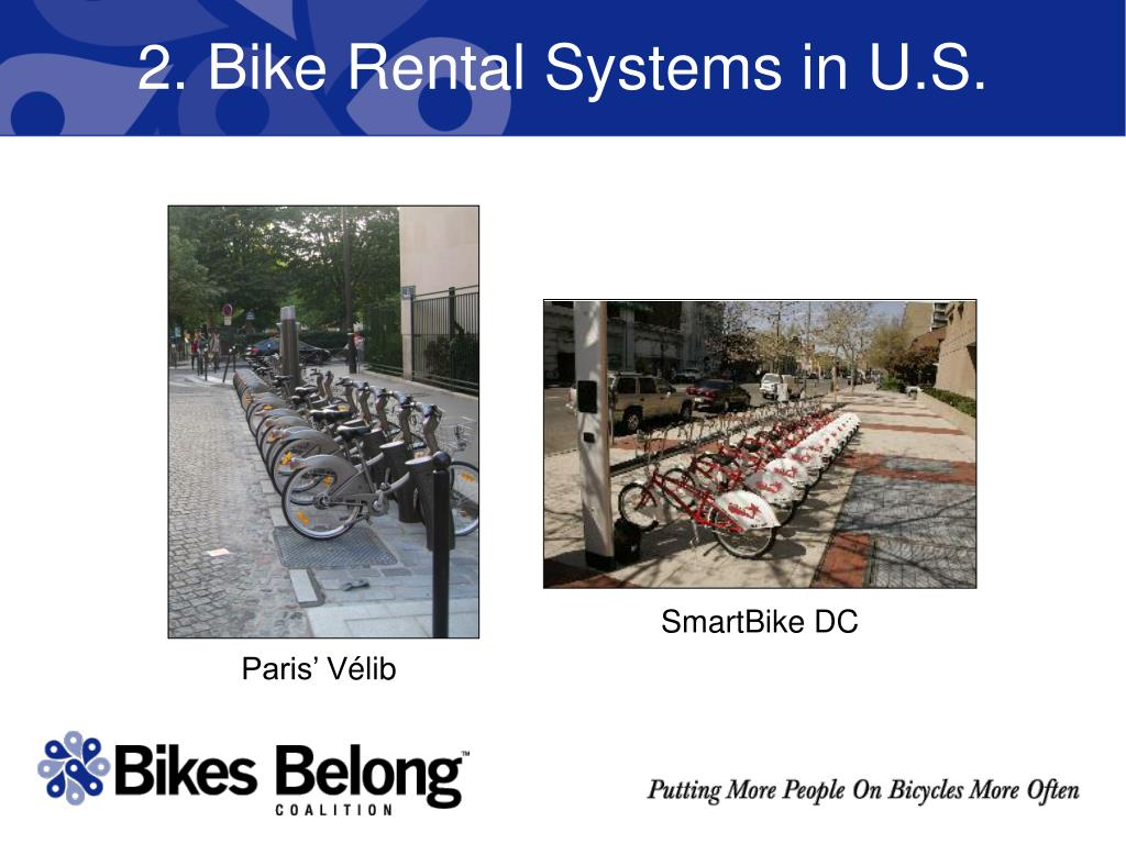2. Bike Rental Systems in U.S.
