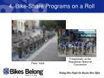 4 bike share programs on a roll