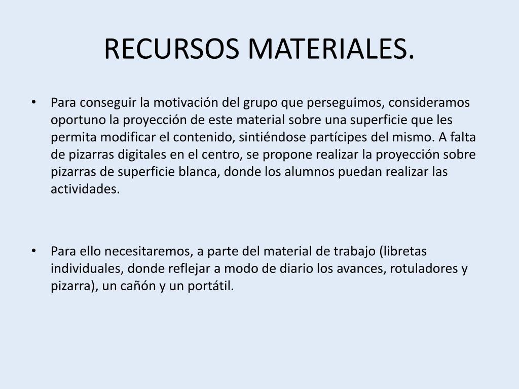 RECURSOS MATERIALES.