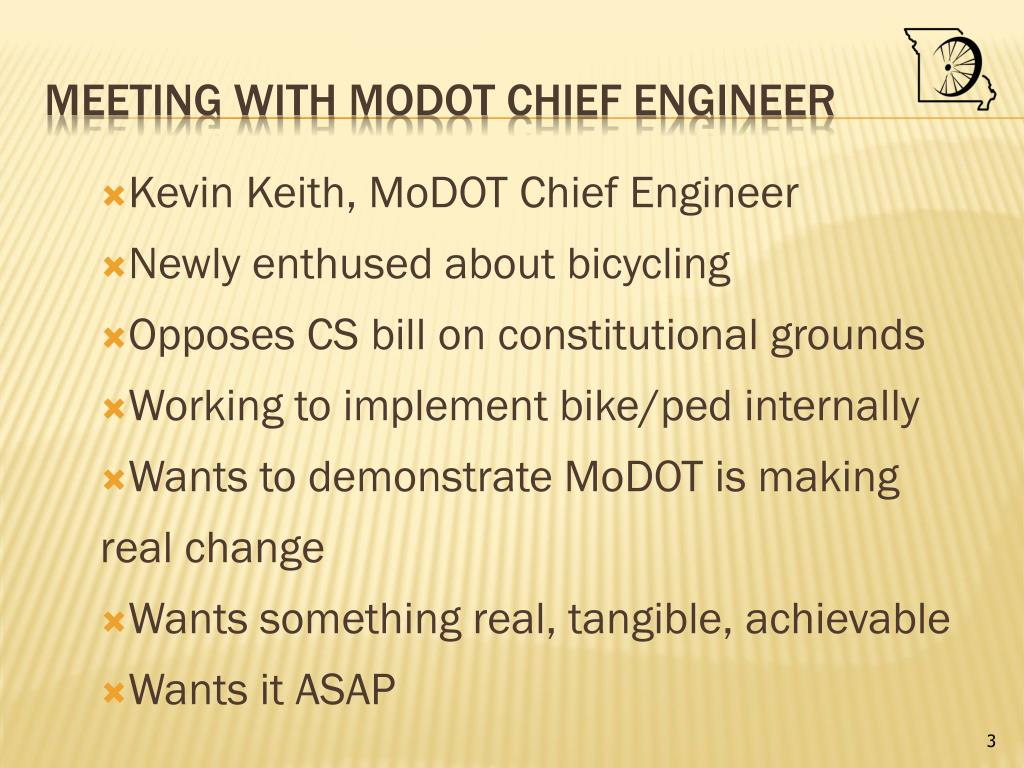 Kevin Keith, MoDOT Chief Engineer