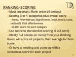 ranking scoring