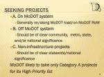 seeking projects