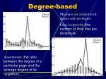 degree based