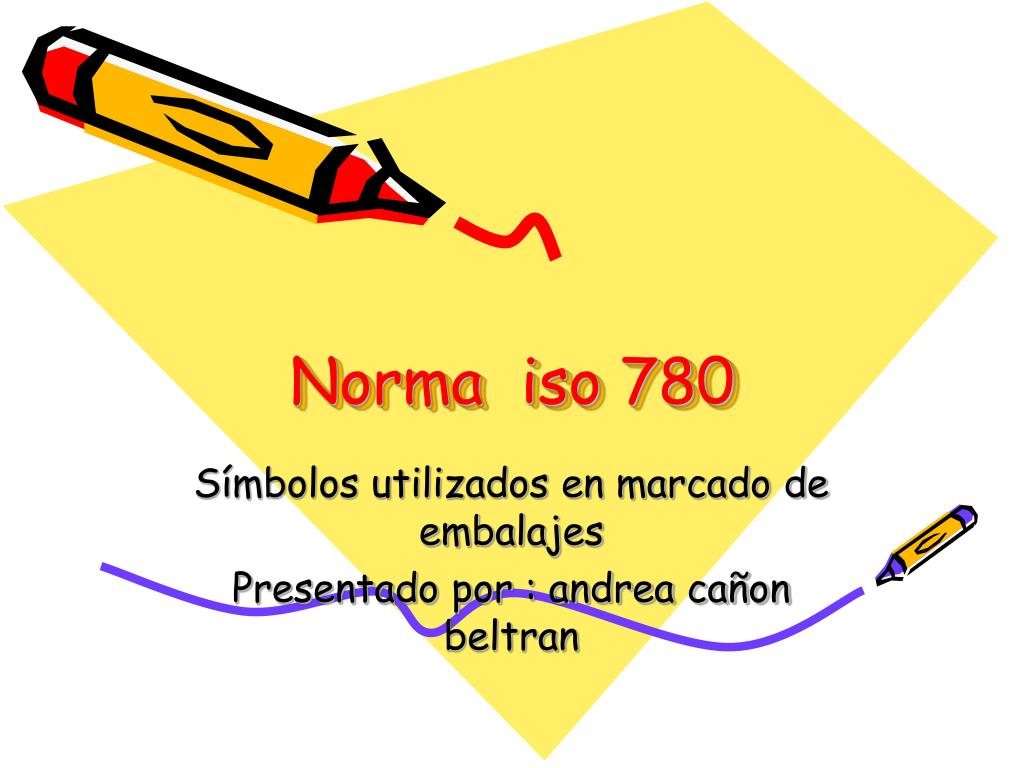 norma iso 780 l.