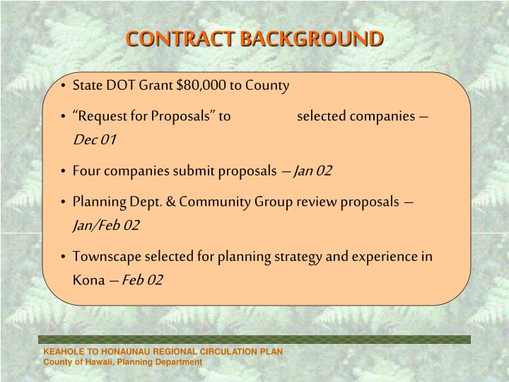 Contract background