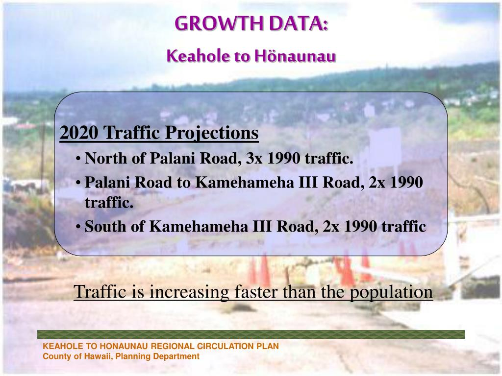 2020 Traffic Projections
