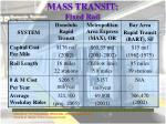 mass transit fixed rail
