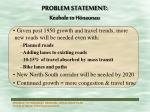problem statement keahole to h naunau