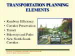 transportation planning elements