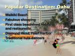 popular destination oahu