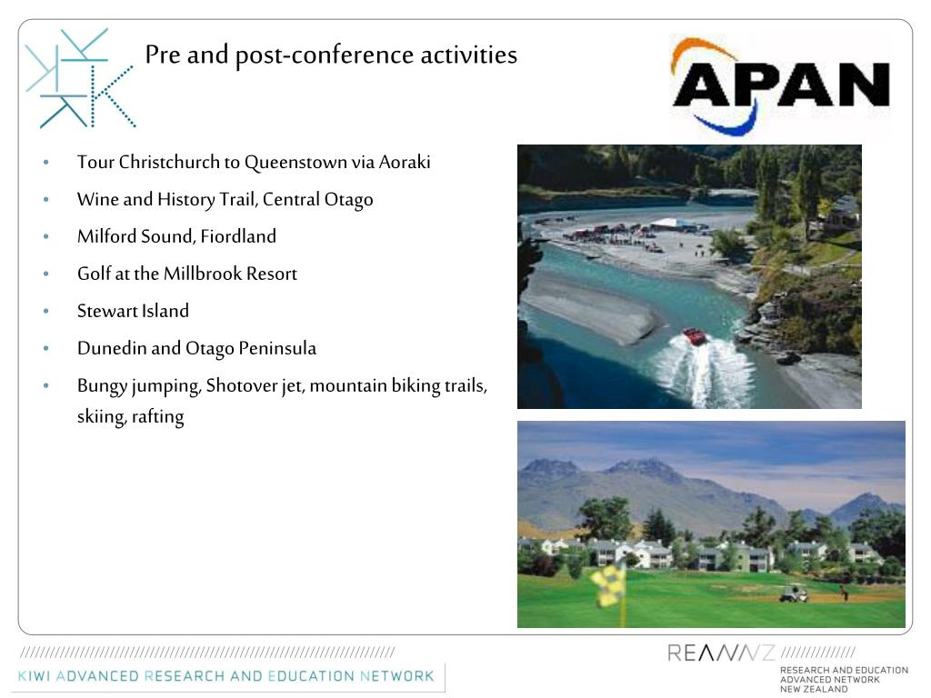 Pre and post-conference activities