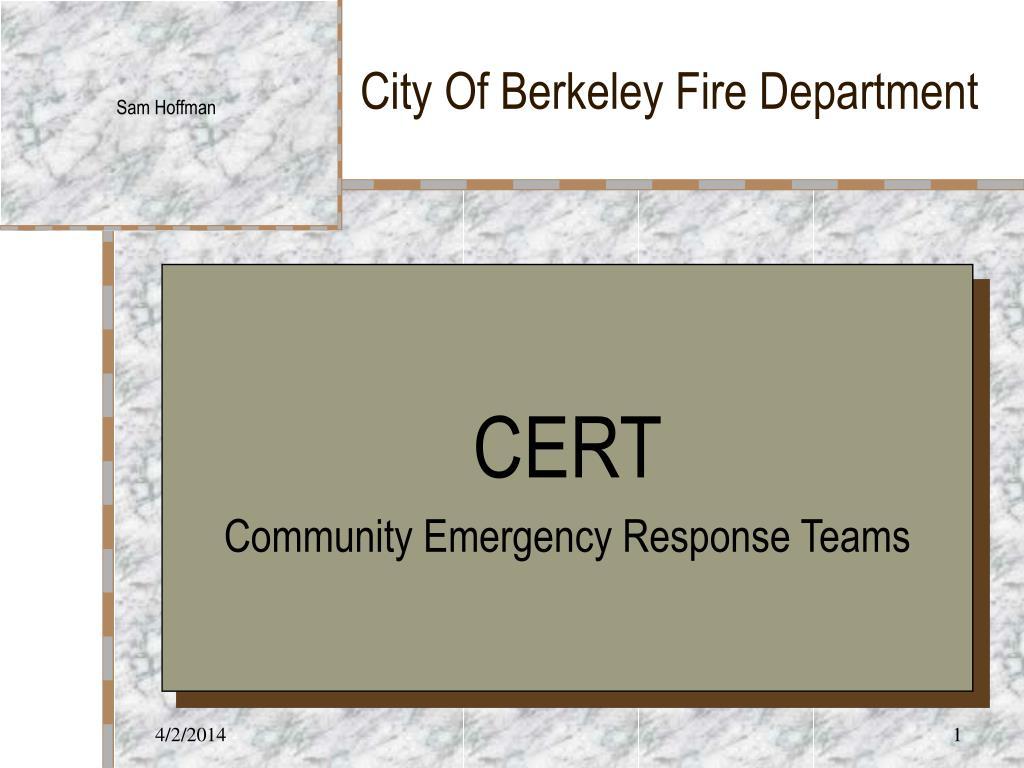 City Of Berkeley Fire Department