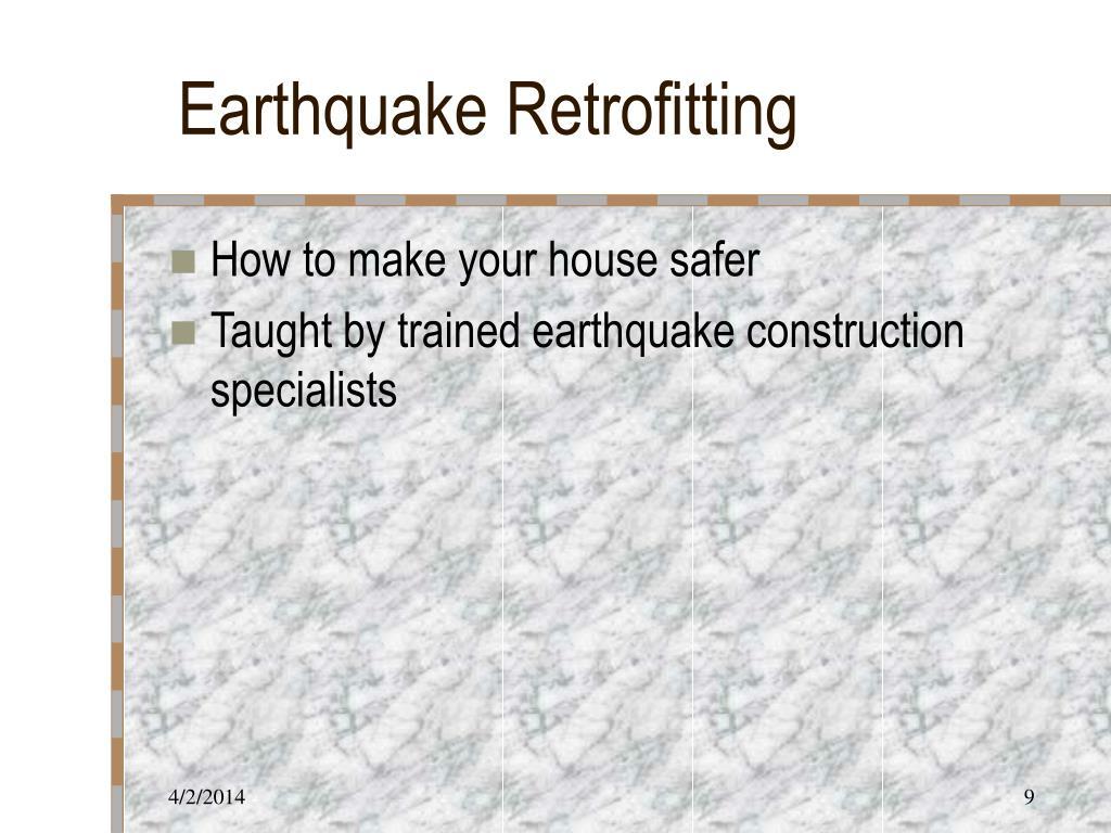 Earthquake Retrofitting