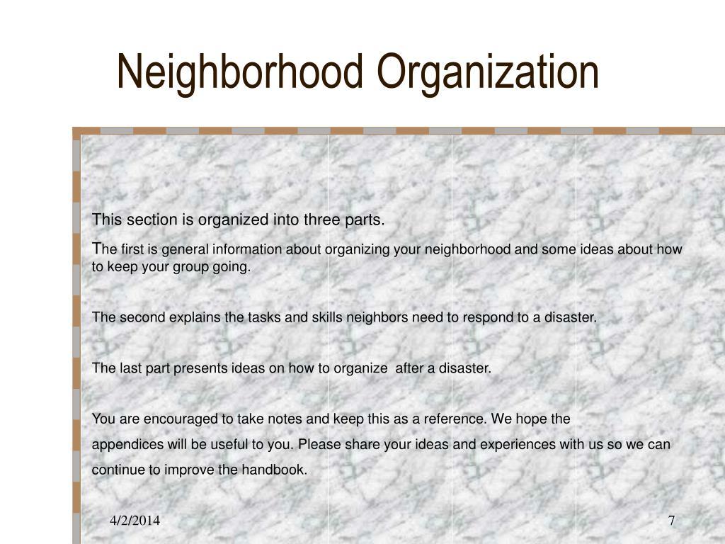 Neighborhood Organization