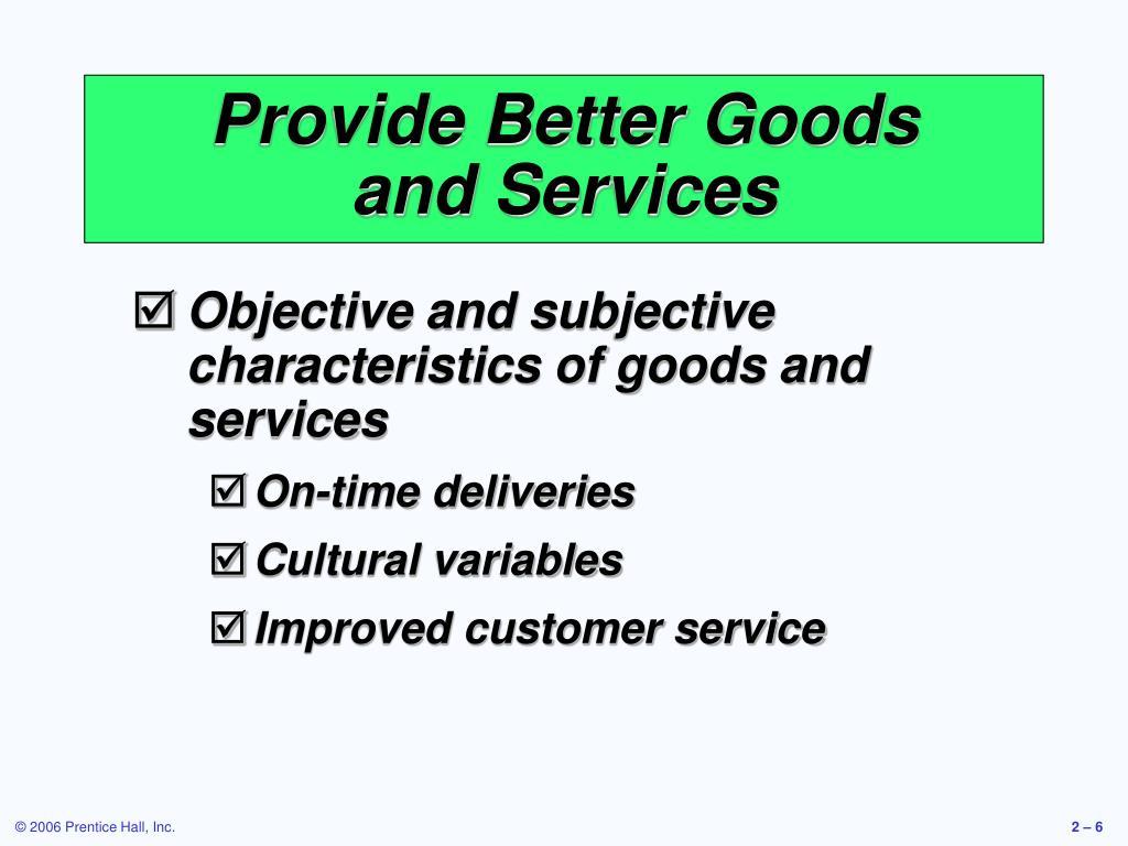 Provide Better Goods