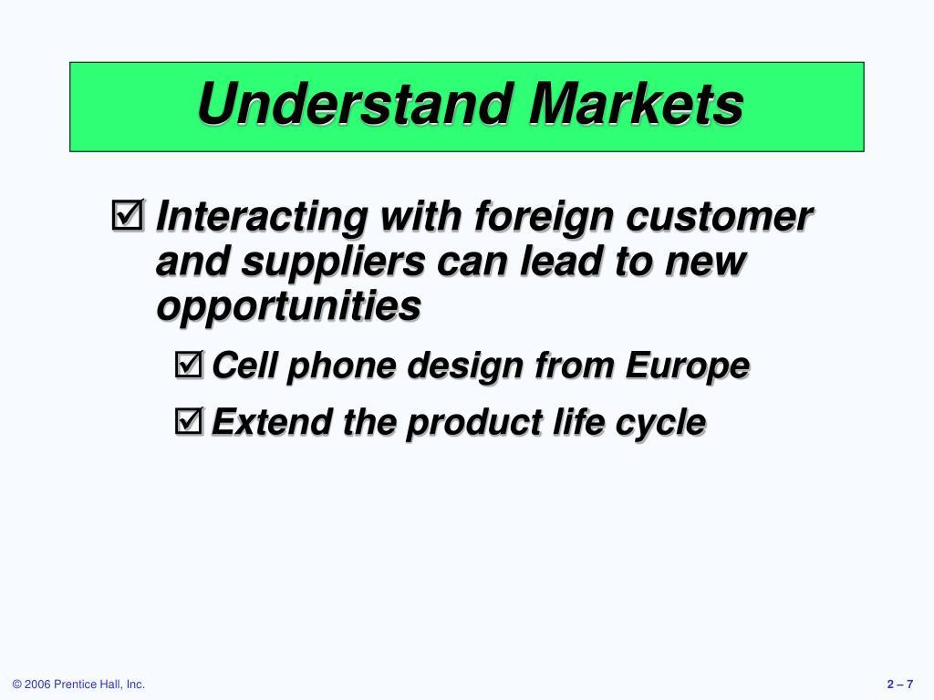 Understand Markets