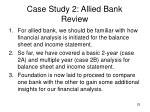 case study 2 allied bank review