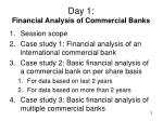 day 1 financial analysis of commercial banks