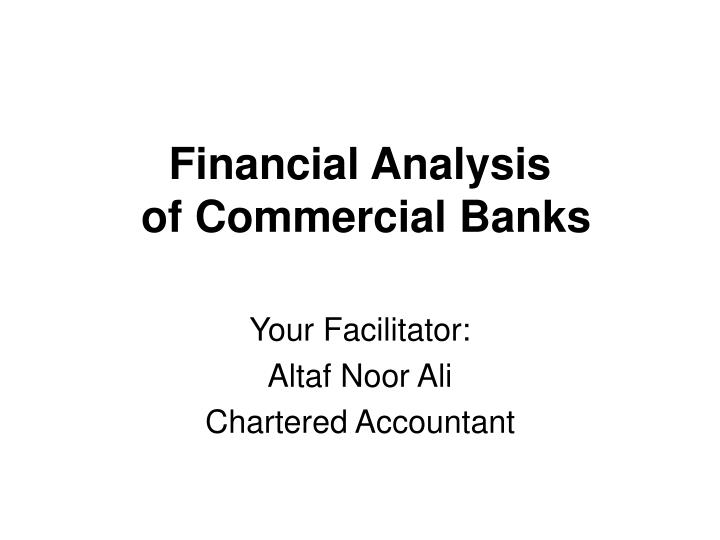 financial analysis of commercial banks n.
