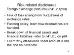 risk related disclosures foreign exchange rate risk n41 2 1p93