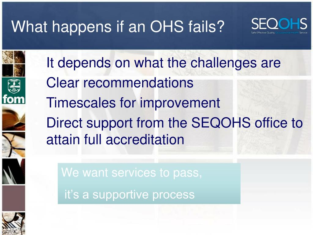 What happens if an OHS fails?
