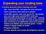 expanding your funding base