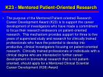 k23 mentored patient oriented research