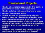 translational projects