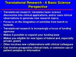 translational research a basic science perspective