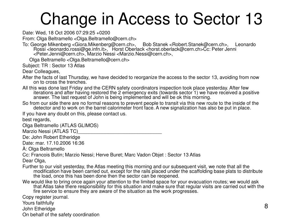 Change in Access to Sector 13