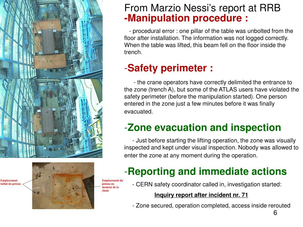 From Marzio Nessi's report at RRB