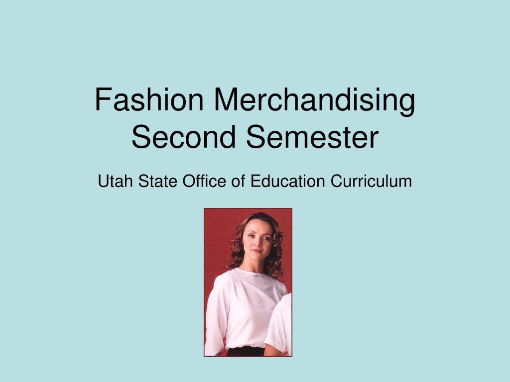 fashion merchandising second semester l.