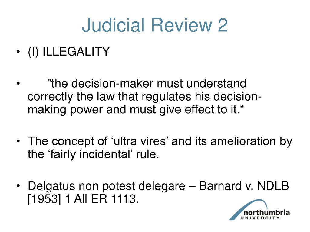 judicial review 2 l.