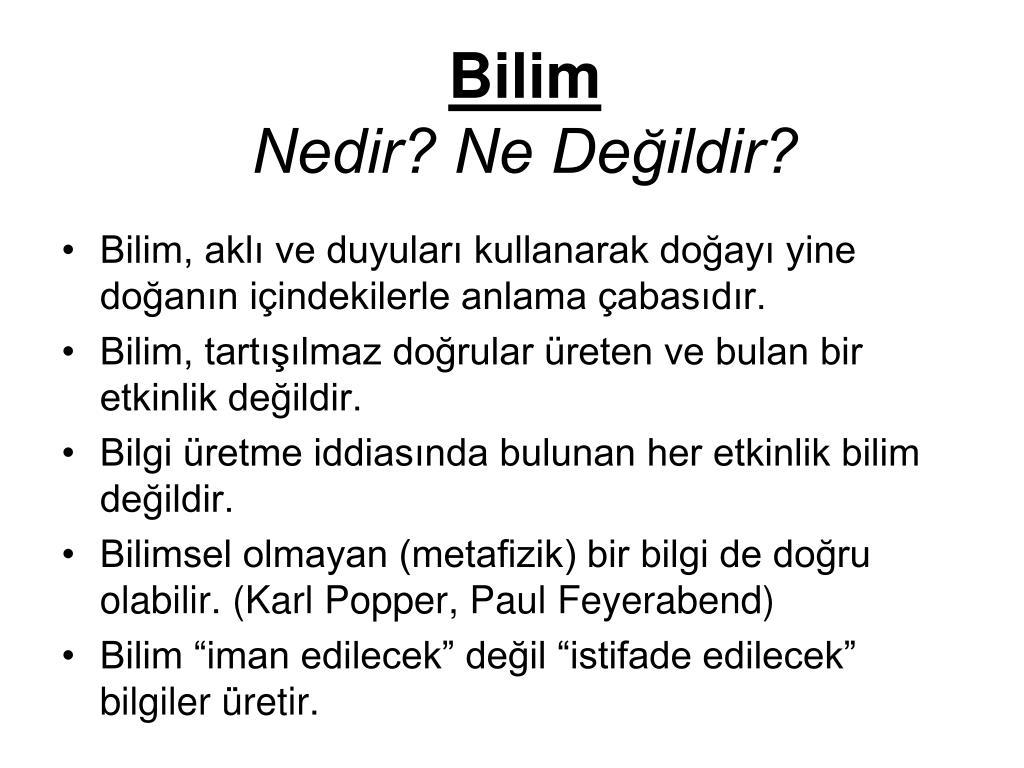 Bilim