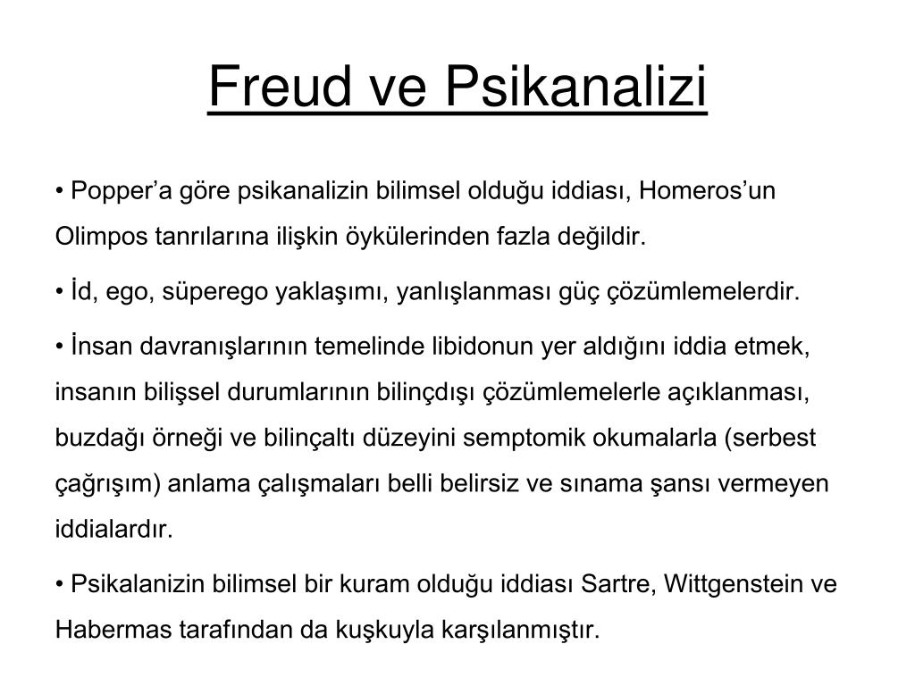 Freud ve Psikanalizi